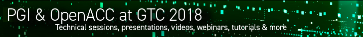 PGI and OpenACC at GTC 2018