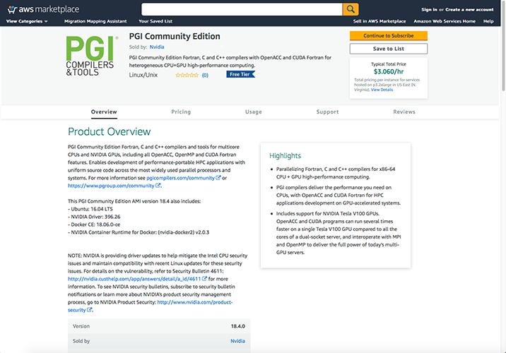 Using PGI on AWS or the NVIDIA GPU Cloud