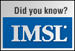 Did you know…IMSL