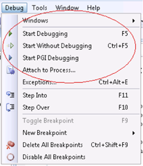 Selecting the PGI Debugger